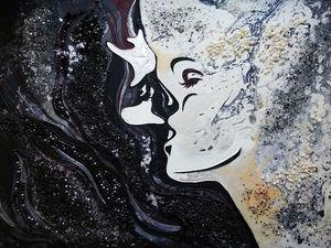 Картина интерьерная Поцелуй. Ярмарка Мастеров - ручная работа, handmade.