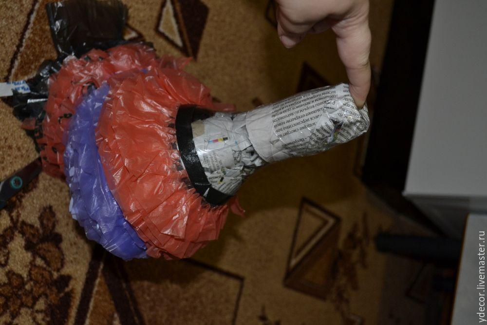 Поделки из мусора из пакетов