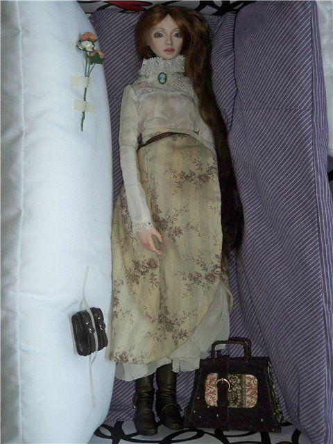фарфоровая кукла, подарочная упаковка, подарок девушке, подарок