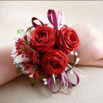 Свадебные букеты из искусственных роз