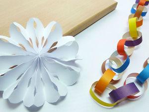 Как просто сделать снежинки и гирлянды из бумаги: видео мастер-класс. Ярмарка Мастеров - ручная работа, handmade.