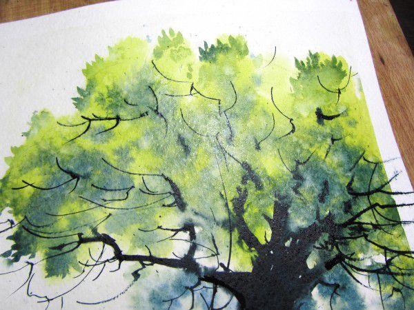 Как нарисовать дерево акварелью, фото № 23