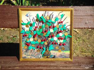 "Панно ""Древо жизни и достатка в 3D"" (Вишня). Ярмарка Мастеров - ручная работа, handmade."