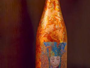 Мастер-класс по декорированию подарочной бутылки. Ярмарка Мастеров - ручная работа, handmade.