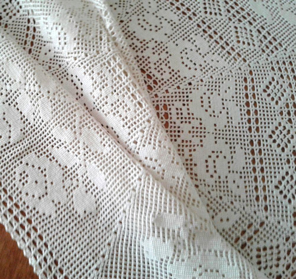 скатерть ручной работы, белая скатерть, классический стиль, подарок женщине