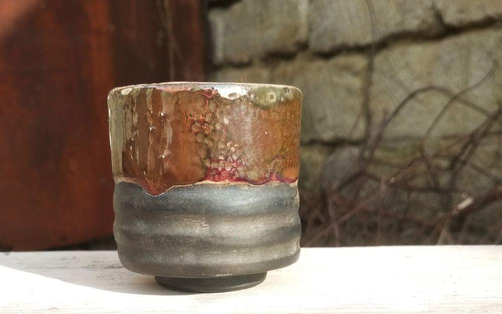 керамика ручной работы, пиала раку купить