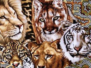 """Лоскутное одеяло для подростка """"Дикая Африка"""", часть 3. Ярмарка Мастеров - ручная работа, handmade."""