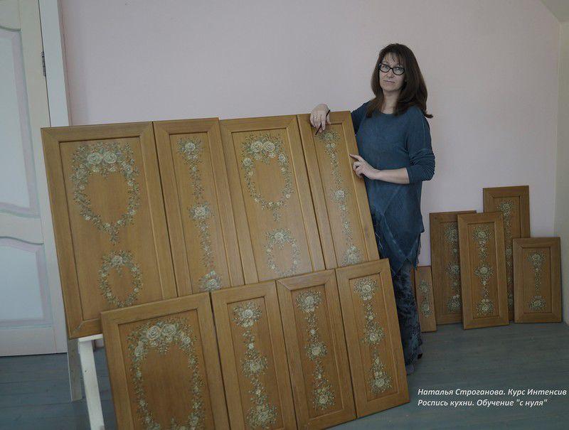 расписная мебель, наталья строганова