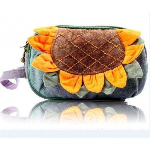 Cute Sunflower Girls'Mini Handbags Coin Purse, Cellphone Bags,Camera Bag 15$