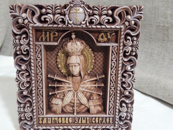 Готовая работа Икона Умягчение Злых Сердец | Ярмарка Мастеров - ручная работа, handmade