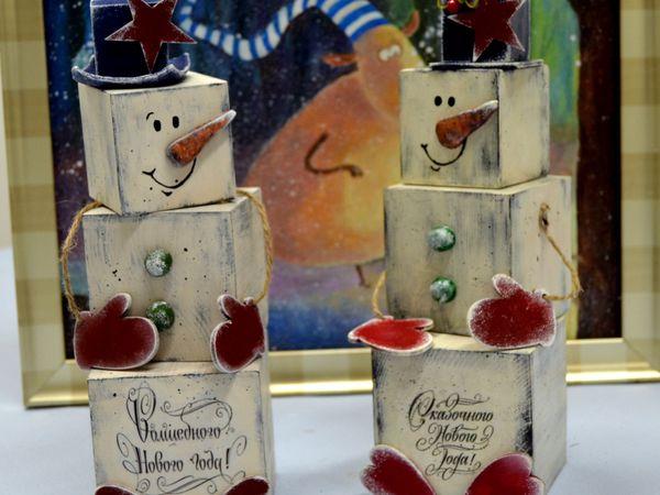 Снеговик под елку | Ярмарка Мастеров - ручная работа, handmade