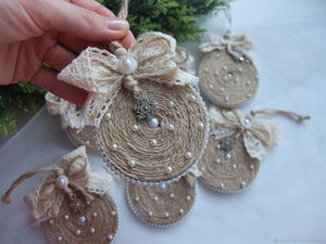 DIY Video: a Christmas Decoration of Twine. Livemaster - handmade