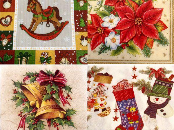 Скидка на новогодние салфетки! | Ярмарка Мастеров - ручная работа, handmade