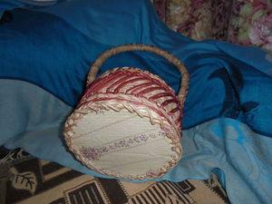 Плетеная корзинка с двойным наклонным рисунком: видеоурок. Ярмарка Мастеров - ручная работа, handmade.