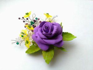 Фиолетовая роза. Новинка в магазине. Ярмарка Мастеров - ручная работа, handmade.