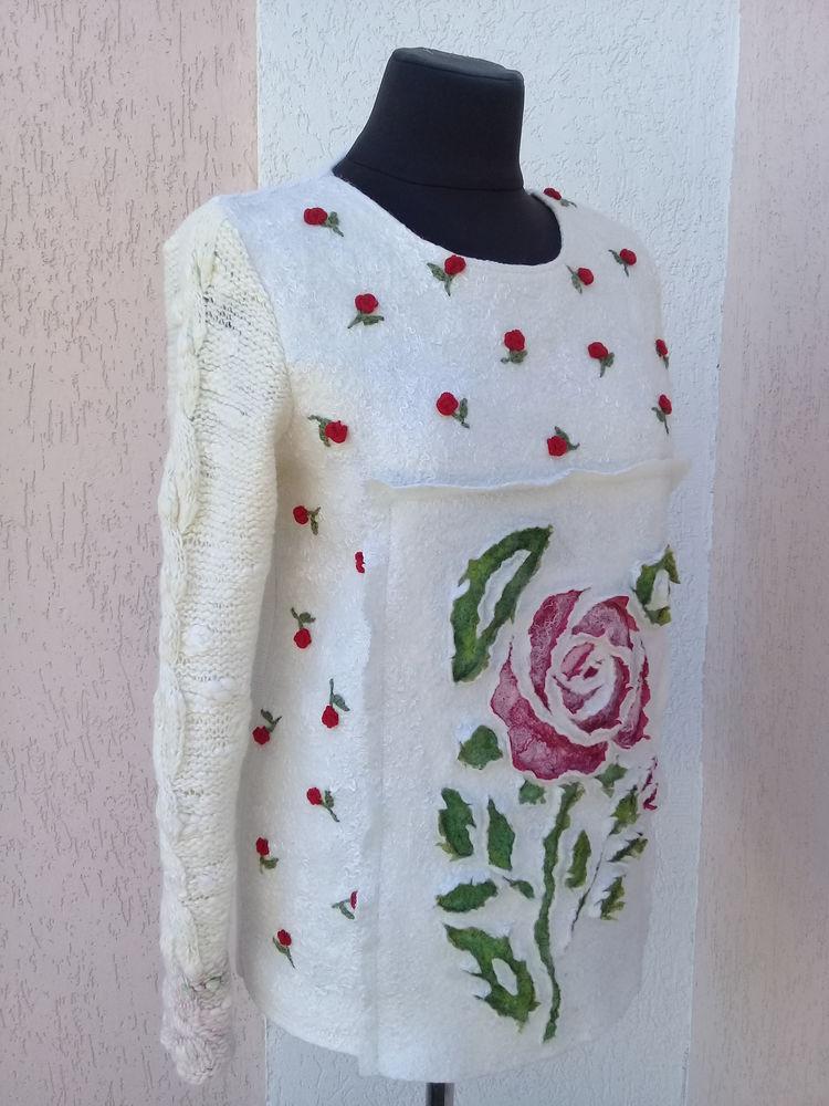 свитер вязано-валяный