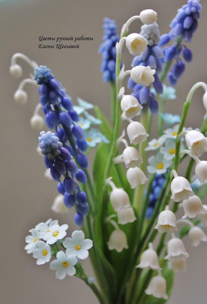 цветы из полимерной глины, мастер-класс по лепке