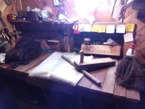 Рабочий процесс создания валенок. Ярмарка Мастеров - ручная работа, handmade.