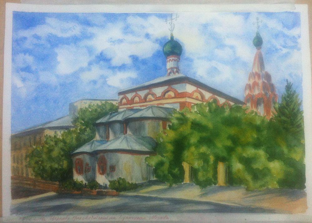 пленэр, картины москвы, храм