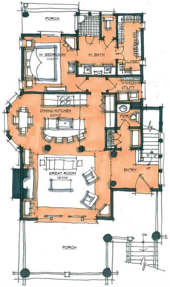 дизайн интерьера, стиль, дизайн-проект, диван