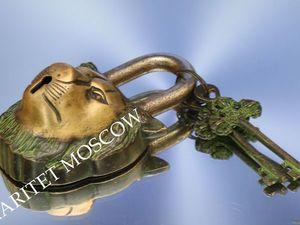 РЕДКОСТЬ Замок лев ключ бронза латунь Англия 1. Ярмарка Мастеров - ручная работа, handmade.