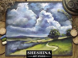 Видео мастер-класс: рисуем пейзаж перед грозой сухой пастелью. Ярмарка Мастеров - ручная работа, handmade.