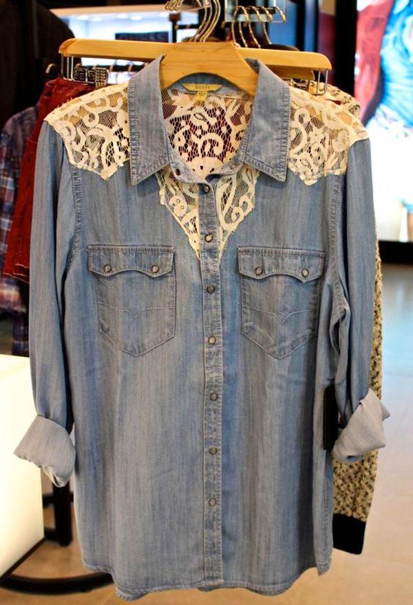 Многообразный декор джинсовых курток: 50 интересных вариантов, фото № 22