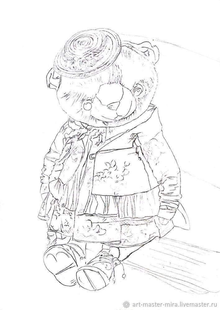 Как нарисовать мишку Тедди акварелью, фото № 2