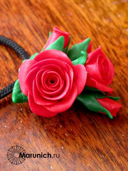 полимерная глина мастер-класс, розы из пластики мастер-класс, елена марунич