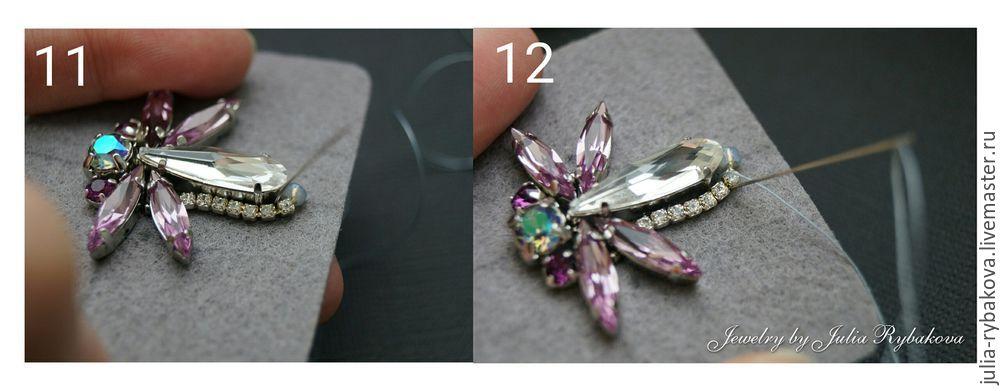 кулон с кристаллами