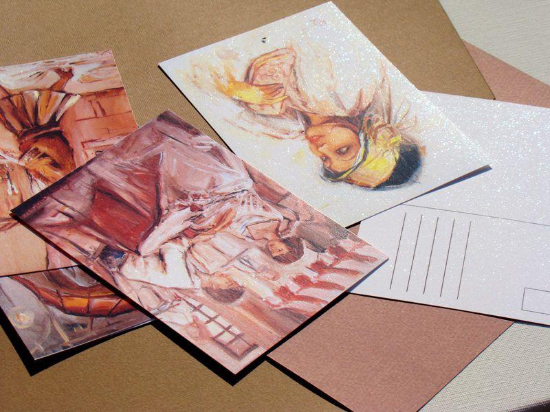Двусторонние открытки печать