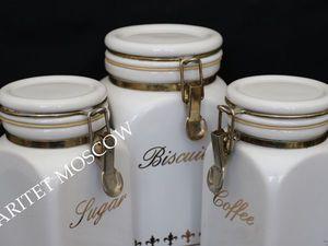 Банка БОЛЬШАЯ клипсы набор сахарница фарфор Англия 8 | Ярмарка Мастеров - ручная работа, handmade