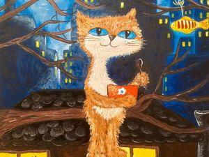 Акция на картину- Матвей-Котофеич. Ярмарка Мастеров - ручная работа, handmade.