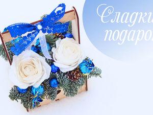 Создаем новогоднюю композицию в деревянной коробке. Ярмарка Мастеров - ручная работа, handmade.