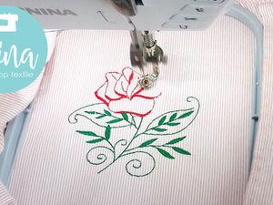 """Машинная вышивка """"Роза"""". Ярмарка Мастеров - ручная работа, handmade."""