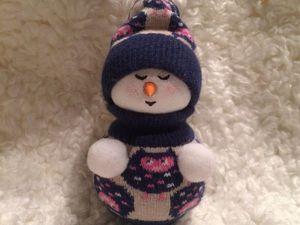 Изготовление новогодней игрушки «Снеговик» за час. Ярмарка Мастеров - ручная работа, handmade.