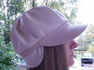 Видео мастер-класс: шьем кепку-восьмиклинку из кожи. Ярмарка Мастеров - ручная работа, handmade.