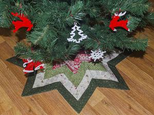 Шьем юбку для елки в стиле пэчворк. Ярмарка Мастеров - ручная работа, handmade.