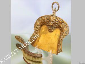 РАРИТЕТИЩЕ Совок щетка лев баран латунь серебрение 1. Ярмарка Мастеров - ручная работа, handmade.