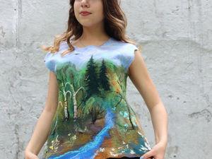 Новая блузка с пейзажем!. Ярмарка Мастеров - ручная работа, handmade.