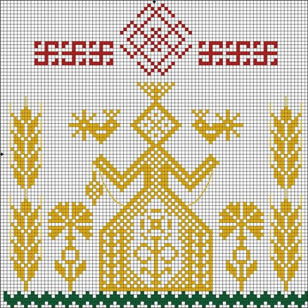 Обережная вышивка крестом схемы