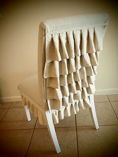 DIY French Country Decor: Ruffle back chair tutorial