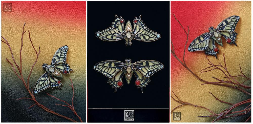 аукцион, бабочка, ар нуво