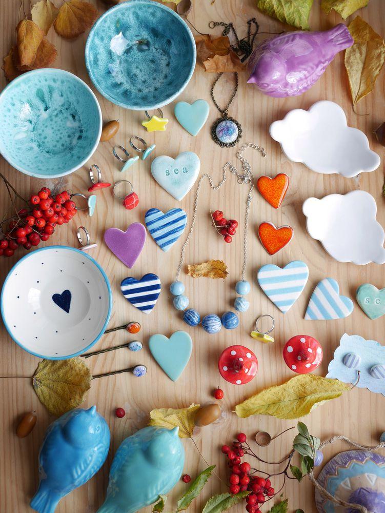 ярмарка, москва, керамика ручной работы, керамические украшения, керамический, посуда, подарок, сердце