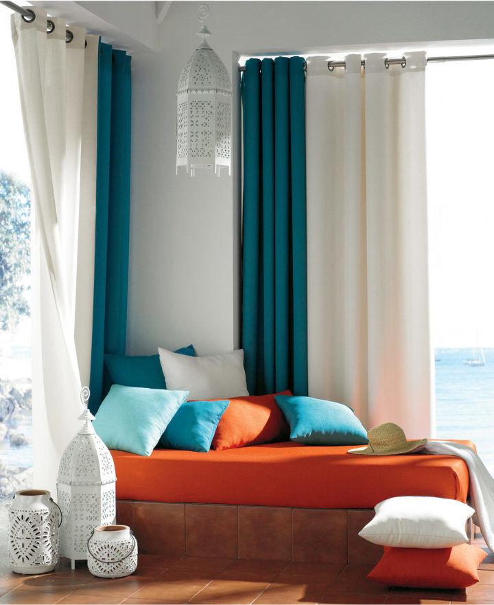Тихая гавань: бирюзовые шторы в интерьере