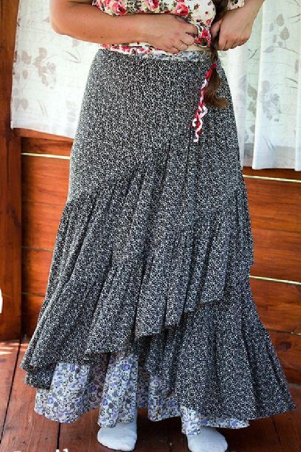 Многоярусные юбки своими руками