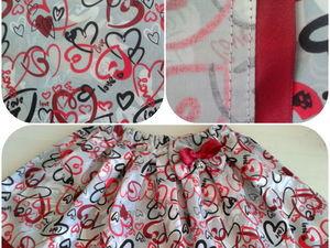 Юбочка для девочки из плотной ткани ТиСи. Ярмарка Мастеров - ручная работа, handmade.