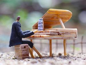 Счастье быть собой: миниатюры из спичек от Korekgraphy. Ярмарка Мастеров - ручная работа, handmade.