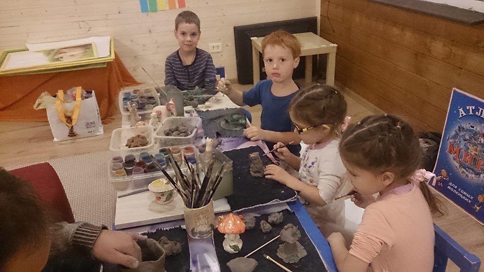 занятия с детьми, уроки лепки, терракота, обучение керамике, лепка