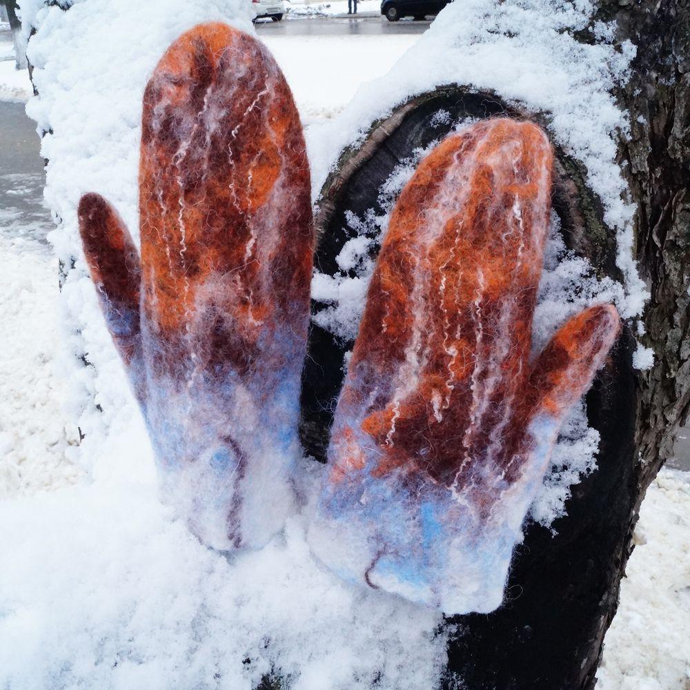 рукавички, детские рукавички, новогодний подарок, стильные варежки